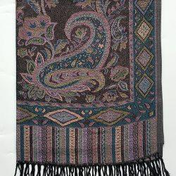 Violet pashmina tørklæde